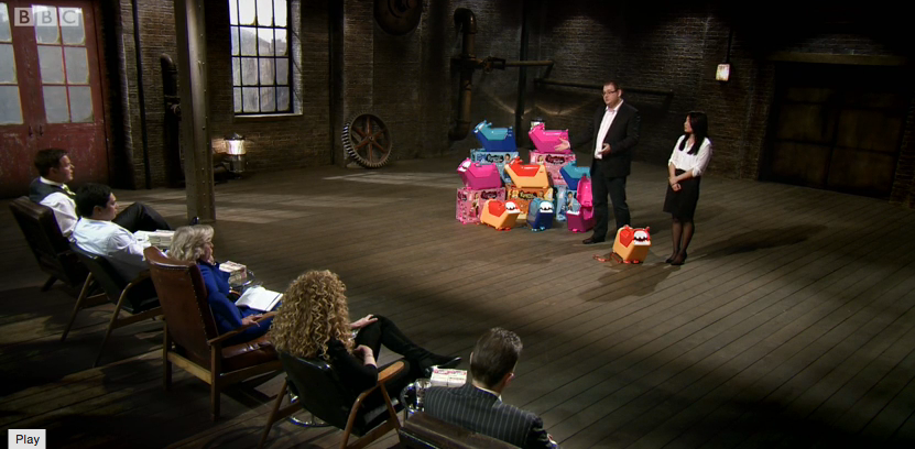 Roomii Monster on Dragons Den 1