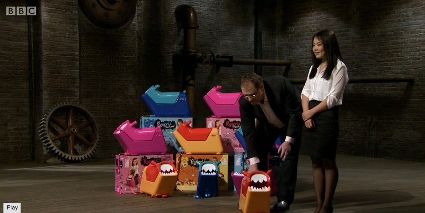 Roomii Monster on Dragons Den 4