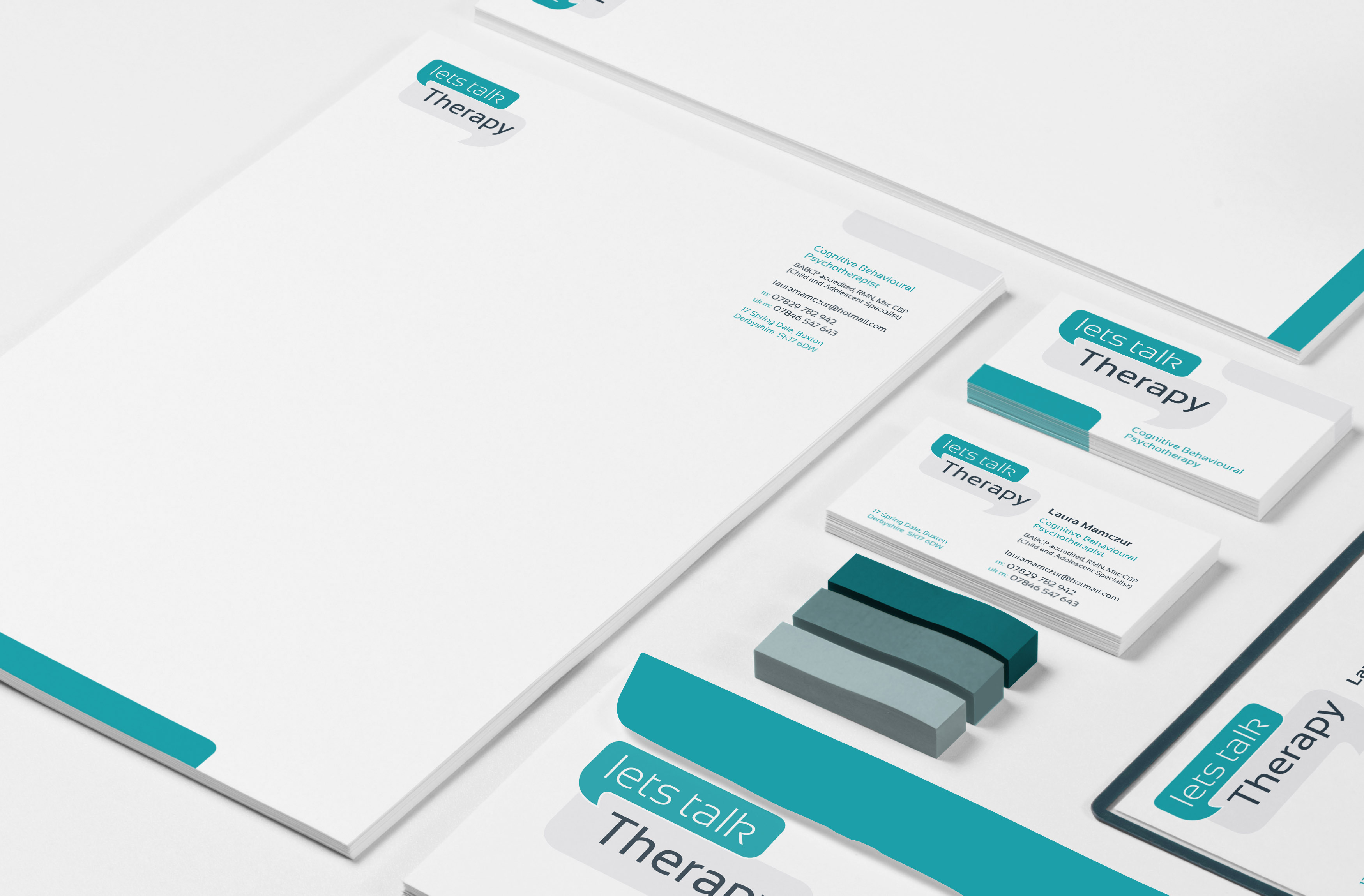 Lets Talk Therapy stationary-mockup